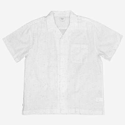 OBEY Ideals Organic Nep Woven S/S Shirt - White - Front - Off The Hook Montreal