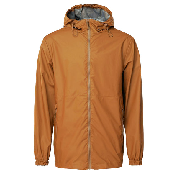 Rains 1816 Ultralight Jacket Camel - front view - available at off the hook montreal