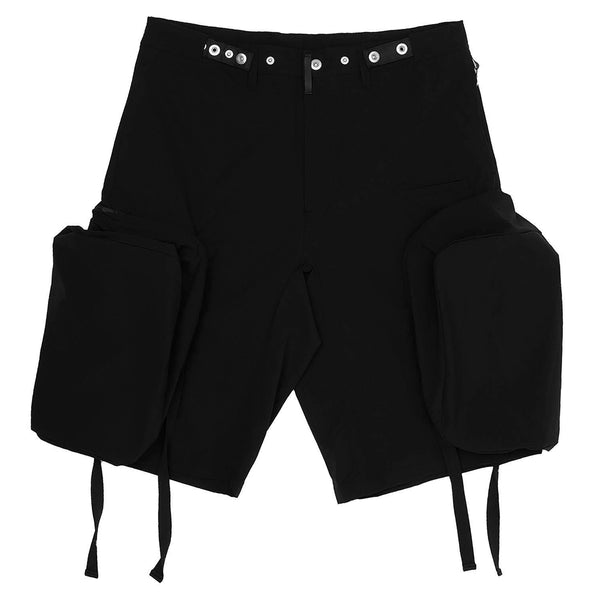 Rip Stop Stretcher Big Pocket Shorts Black