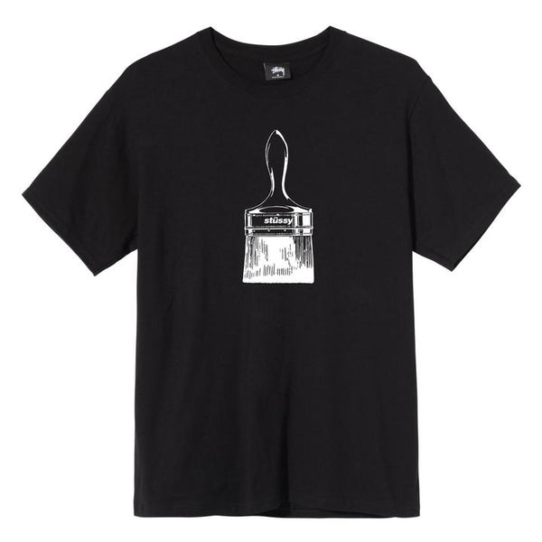 Stussy 1904577 Paintbrush Tee Black front available at off the hook montreal