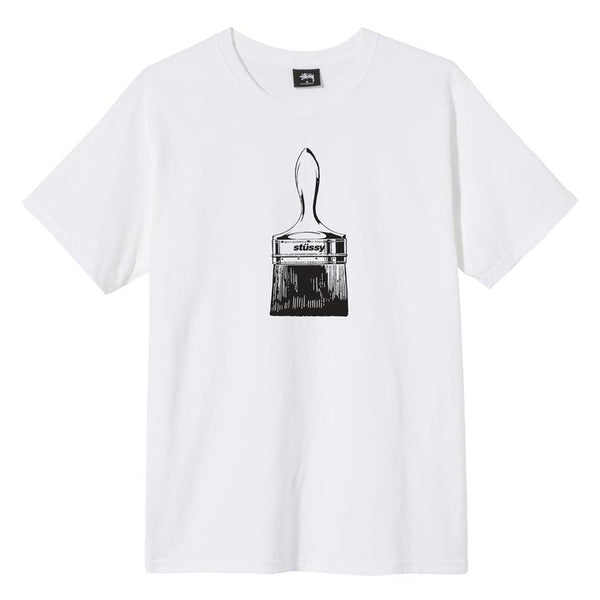 Stussy 1904577 Paintbrush Tee White front available at off the hook montreal