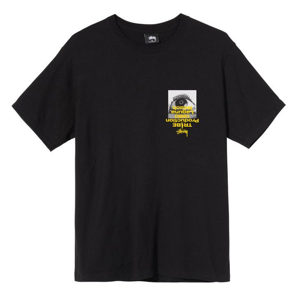 Stussy 1904587 Tribe Tee Black  front available at off the hook montreal