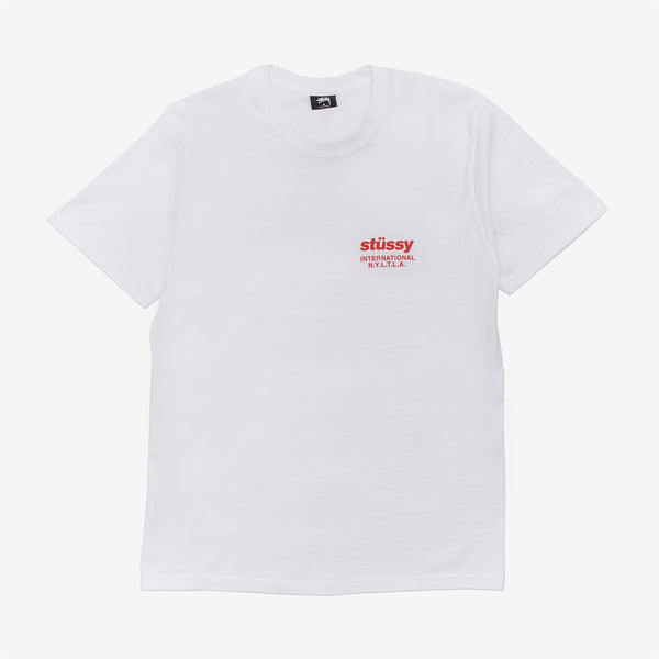 Stussy 1904589 Windflower Tee White front available at off the hook montreal