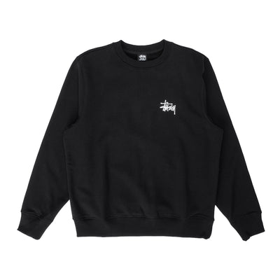 Basic Stussy Crew - black - front - Off The Hook Montreal #color_black