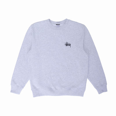 Basic Stussy Crew - Ash Heather - Front - Off The Hook Montreal #color_ash-heather