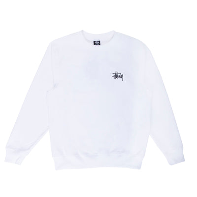 Basic Stussy Crew - White - Front - Off The Hook Montreal #color_white