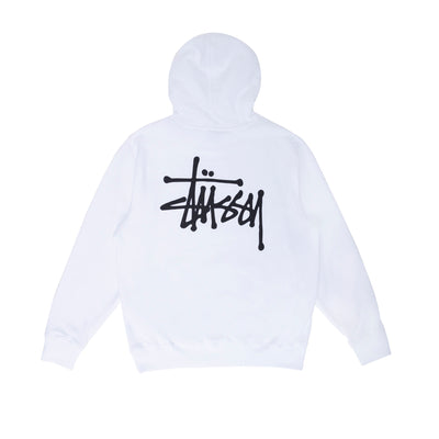 Stussy Basic Hood - White - Back- Off The Hook Montreal #color_white
