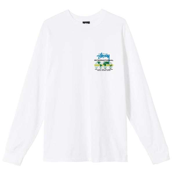 Stussy International LS Tee - White - Front - Off The Hook Montreal