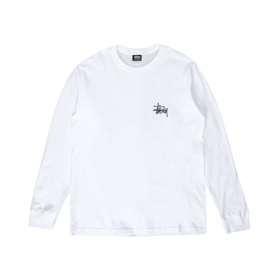 Stussy Basic LS Tee - white - front - Off The Hook Montreal #color_white