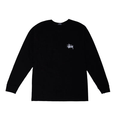Stussy Basic LS Tee - Black - Front - Off The Hook Montreal #color_black