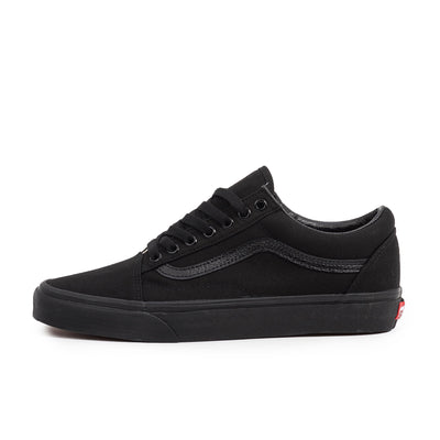 vans old skool true black unisex classic streetwear skate sneaker shoe off the hook oth