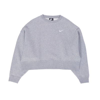 Nike Sportswear Essential Crewneck - Heather Grey / White - front - Off The Hook Montreal