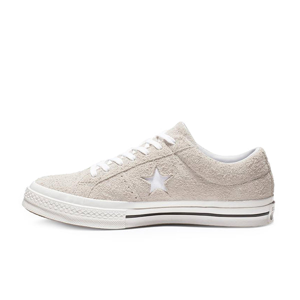 One Star Vintage Suede Lo Top White Monochrome left available at off the hook montreal