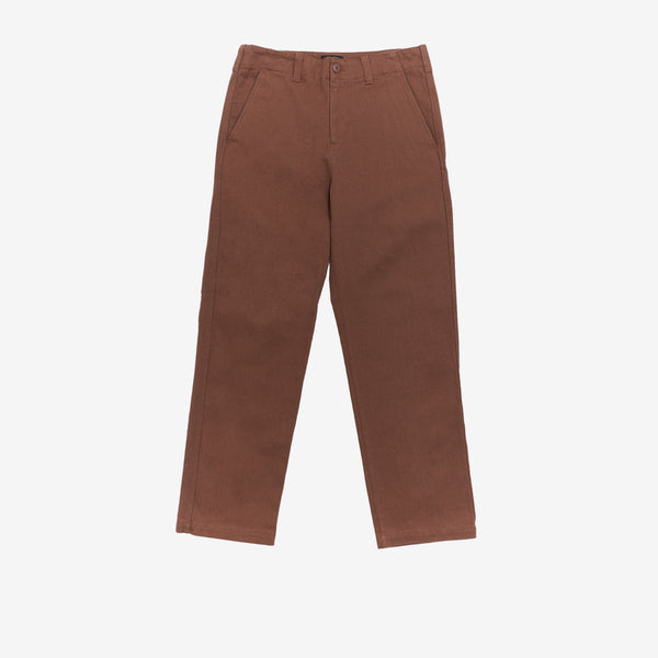 Stussy 116448 Uniform Pant Brown front available at off the hook montreal
