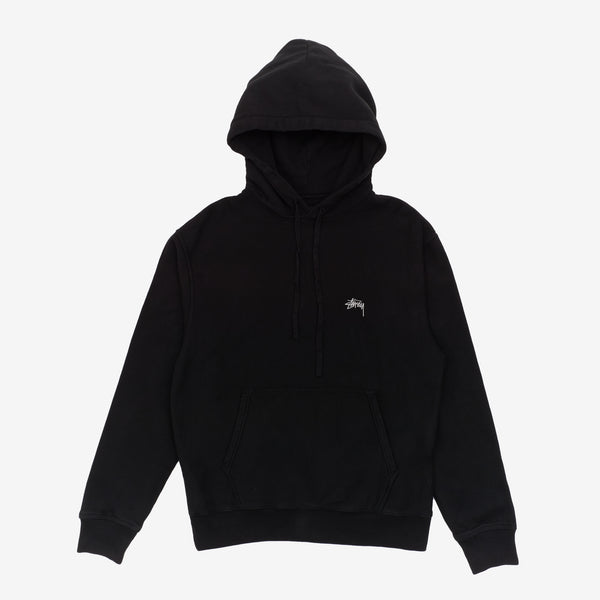 Stussy 118364 Stussy Logo Hood Black front available at off the hook montreal