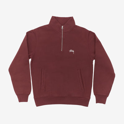 Stussy 118365 Stussy Logo Mock Burgundy front available at off the hook montreal