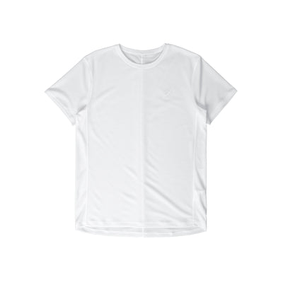 2011B863 Silver Short Sleeve Top - front - available at off the hook montreal #color_white