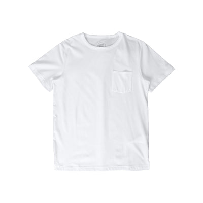 2031B949 Patched Pocket Short Sleeve Top - front - available at off the hook montreal #color_white