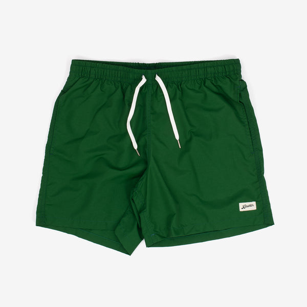 These swim trunks from Bather feature contrasting drawstrings and are adorned with a logo patch. They also boast an elasticised waist, custom tipped drawstrings, along with a quick-dry shell.   Shell: 100% Nylon Quick Dry Lining: 90% Nylon 10% Spandex Ultra Fine Mesh Reinforced Side Pockets Back Pocket With Snap Enclosure 5.5 Inch Inseam Made in Canada Product code: 20400-EMR off the hook oth streetwear boutique canada montreal