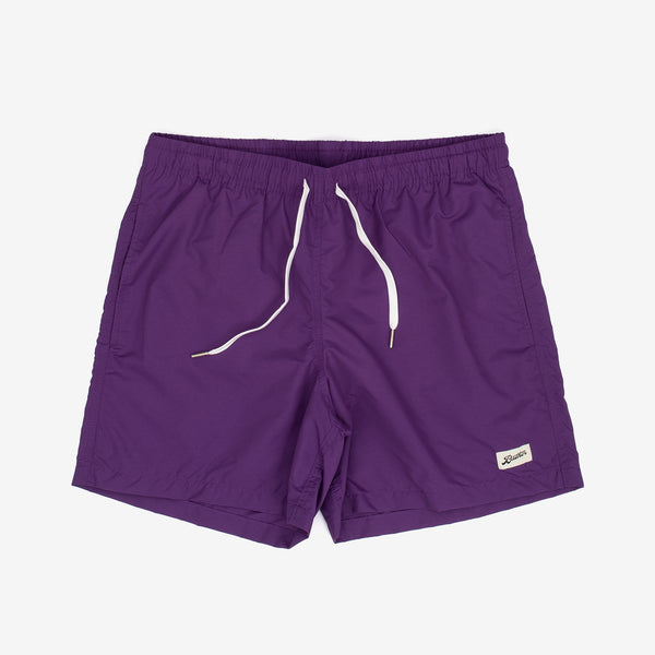 These swim trunks from Bather feature contrasting drawstrings and are adorned with a logo patch. They also boast an elasticised waist, custom tipped drawstrings, along with a quick-dry shell.   Shell: 100% Nylon Quick Dry Lining: 90% Nylon 10% Spandex Ultra Fine Mesh Reinforced Side Pockets Back Pocket With Snap Enclosure 5.5 Inch Inseam Made in Canada Product code: 20400-PURP off the hook oth streetwear boutique canada montreal