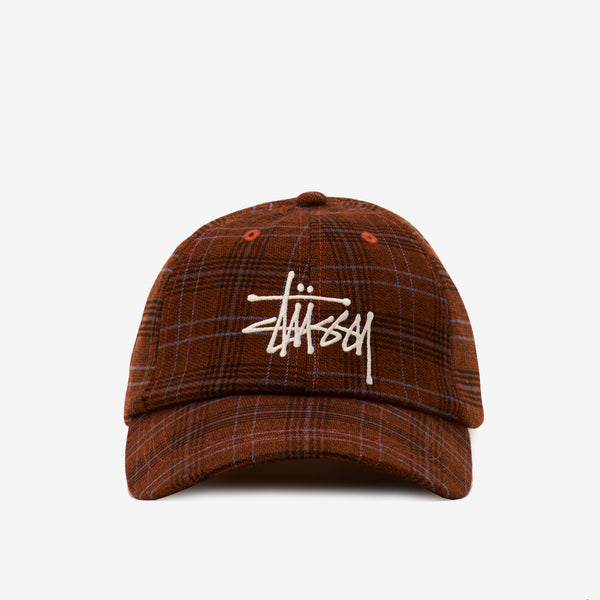 Stussy 131926 Big Logo Striped Low Cap Brown - front view - available at off the hook montreal
