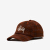 Stussy 131926 Big Logo Striped Low Cap Brown - 3/4 front view - available at off the hook montreal