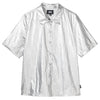 Stussy 211183 Shiny Button Down Silver devant disponible à off the hook montreal
