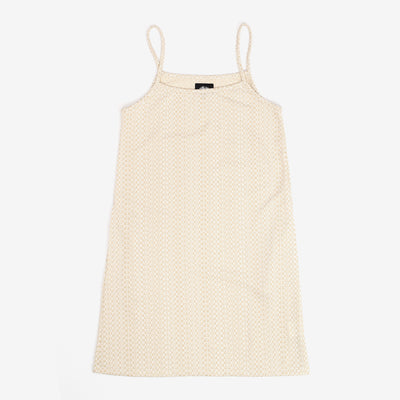 Stussy Tonal Jacquard Dress - White - Front - Off The Hook Montreal
