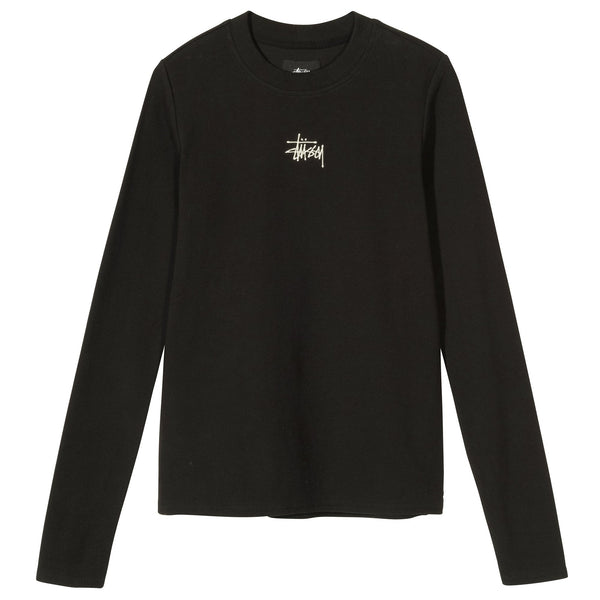 Stussy Baby Rib LS Tee - Black - Front - Off The Hook Montreal