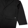 Stussy - 215122 Long Light Nylon Coat W Black - close up of pockets - available at off the hook montreal