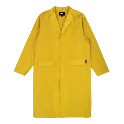Stussy Long Light Nylon Coat W - Mustard - Front - Off the Hook Montreal