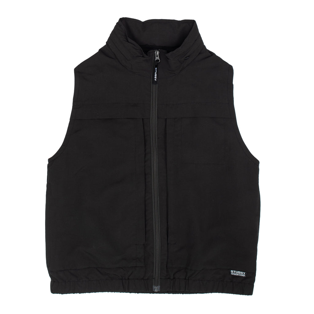 Stussy 215126 Multi Function Vest W Black - front view - available at off the hook montreal