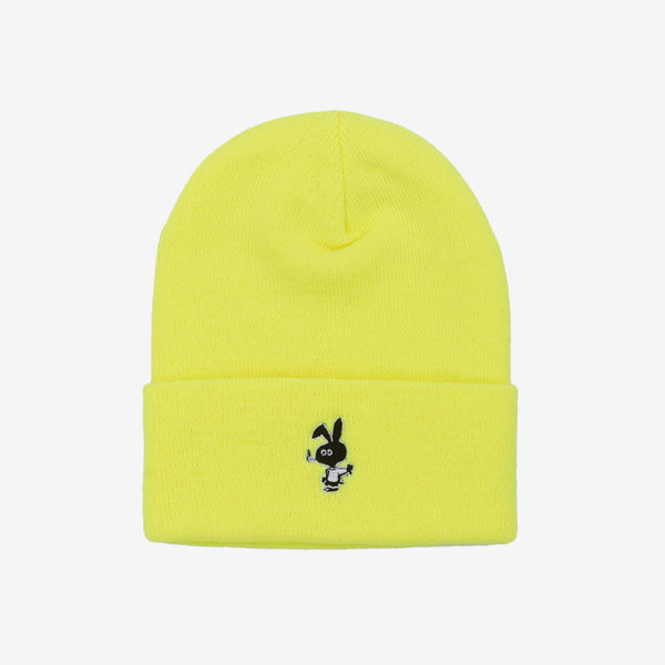 Cold Bunny Beanie (Safety Yellow) available at off the hook montreal