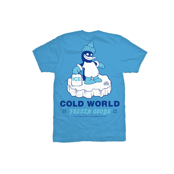Ice World Tee (Blue) available at off the hook montreal