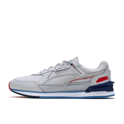 Puma BMW MMS Low Racer - Grey Violet / Marina / White - Side - Off The Hook Montreal