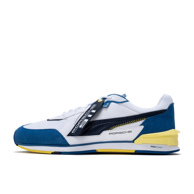 Puma BMW MMS Low Racer - White / Peacoat / Celandine - Side - Off The Hook Montreal