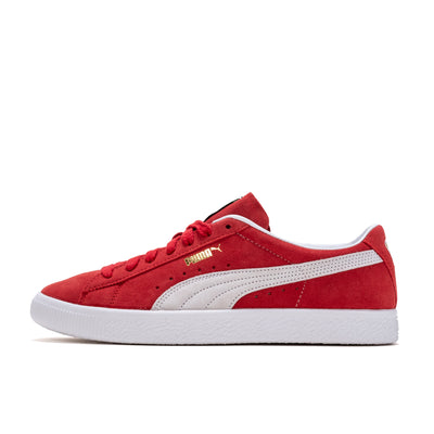 Puma Suede Vintage - High Risk Red / White - Side  - Off The Hook Montreal