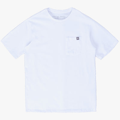 Patagonia Flying Fish Label Pocket Responsibili.Tee - White - Front - Off The Hook Montreal