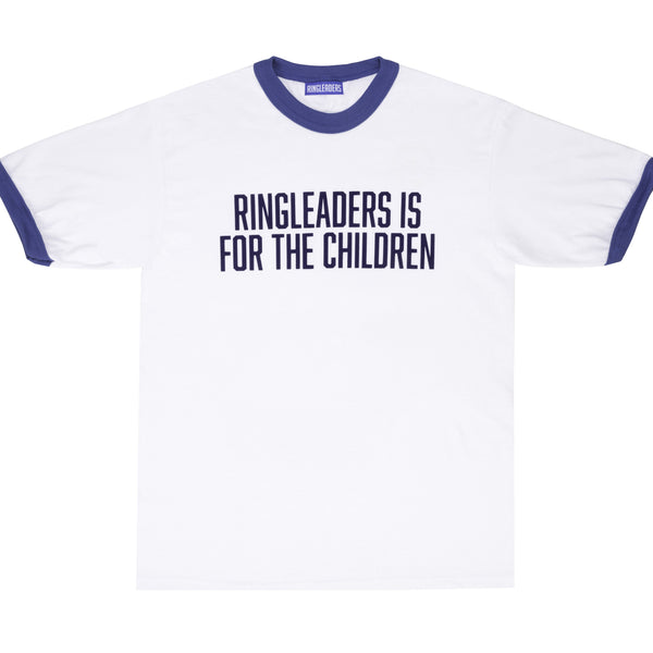 Ringleaders Is For The Children T-Shirt White / Royal Blue