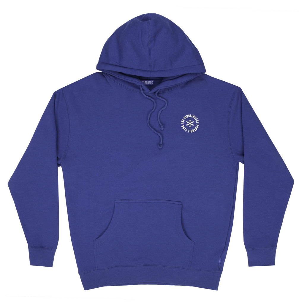 Blue RFC hoodie with felt logo on the back. 100% cotton. RFC Is For The Children Hoody Blue off the hook oth streetwear boutique canada montreal