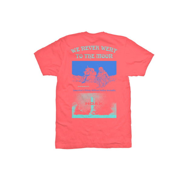 Moon Hoax Tee (Coral) available at off the hook montreal