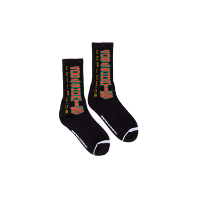 40s World Class Socks - Black - Front - Off The Hook Montreal #color_black