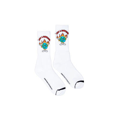 40s Be Alright Socks - White - Front - Off The Hook Montreal #color_white