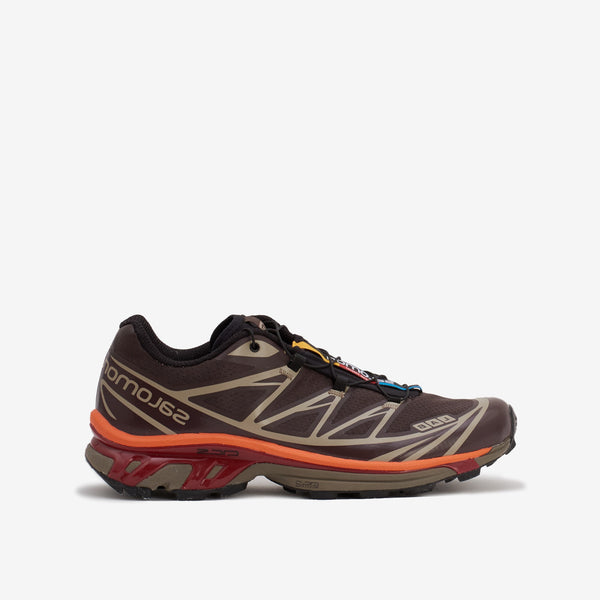 Salomon XT6 Advanced - Shade / Chocolate Plum / Red Orange - Side - Off The Hook Montreal