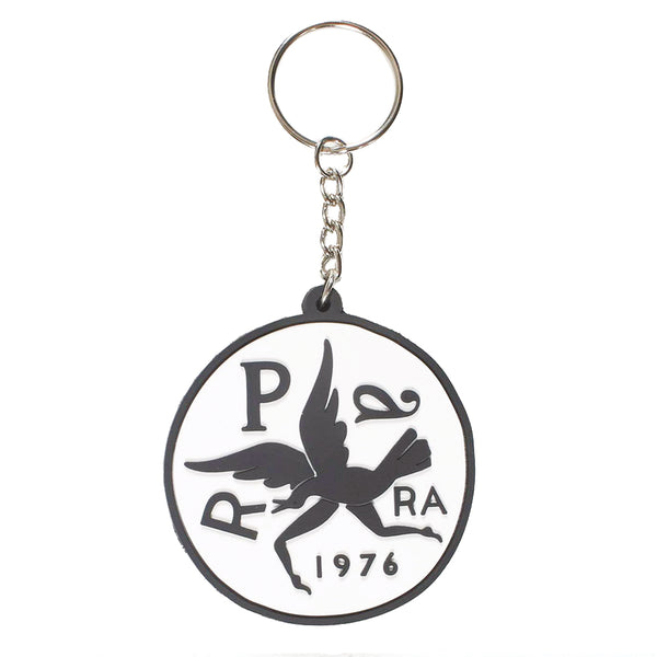 Upside Down Bird Key Chain White