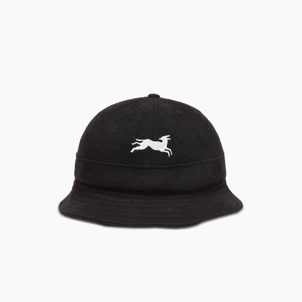 ByParra Jumping Fox Bell Bucket Hat - Black - Front - Off The Hook Montreal