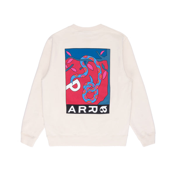 By Parra Eve Garden Crewneck - OffWhite - Back - Off The Hook Montreal