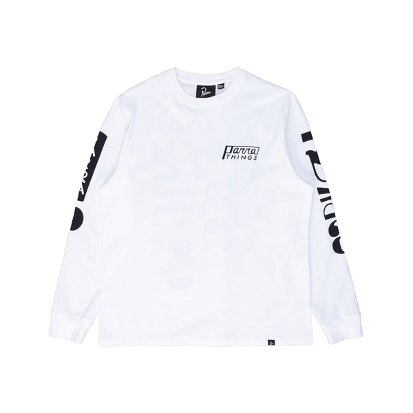 By Parra Parra Things L/S T-Shirt - White - Front - Off The Hook Montreal