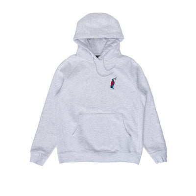 By Parra Staring Hooded Sweathshirt - Grey - Front - Off The Hook Montreal #color_ash-grey