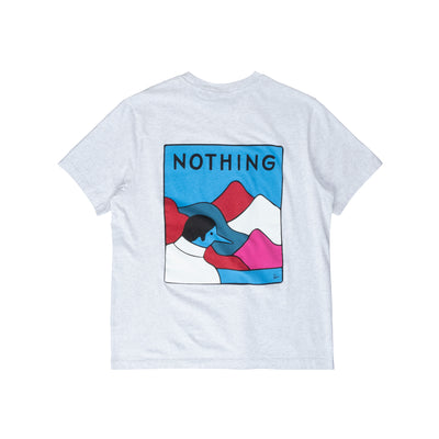 By Parra Nothing T-Shirt - Ash Grey - Back - Off The Hook Montreal #color_ash-grey